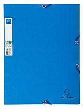 Elastomap Exacompta Clean'Safe 3-kleppen glanskarton blauw