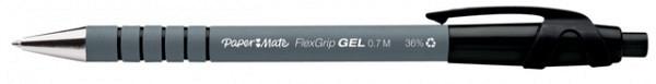 Gelschrijver Paper Mate Flexgrip 0.7mm zwart