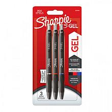 Gelschrijver Sharpie 0,7mm blister à 3 standaard kleuren