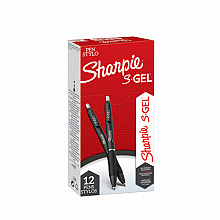 Gelschrijver  Sharpie 0,7mm zwart