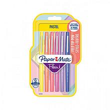 Fineliner Paper Mate Flair Pastel blister à 6 kleuren