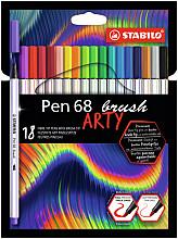 Brushstift STABILO ARTY Pen 68 etui à 18 kleuren
