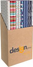 Inpakpapier Design Group Geo 200x70cm assorti