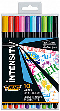Fineliner Bic Intensity 0,4mm etui à 10 kleuren