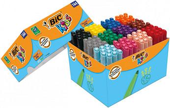 Kleurstift Bic Kids Ecolutions Visacolor XL Schoolbox 144 stuks assorti
