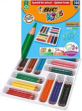 Kleurpotloden Bic Kids Evolution Triangle Schoolbox 144 stuks assorti