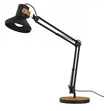 Bureaulamp Unilux Baya LED zwart/bamboe