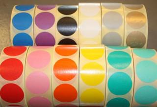 Sluitzegel / sticker / etiket rond 30mm 1000 stuks ZILVER