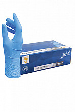 Handschoen Euro nitril M blauw doos à 100 stuks