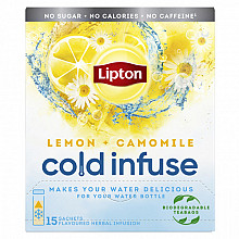 Cold infuse Lipton lemon chamomile