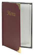Menukaart Securit A5 4 x 2 tassen wijnrood