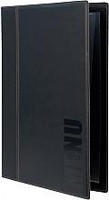 Menukaart Securit Trendy A4 1 x 2 tassen zwart