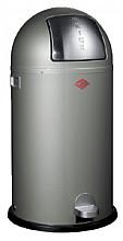 Afvalbak Wesco Kickboy aluminium grijs 40liter