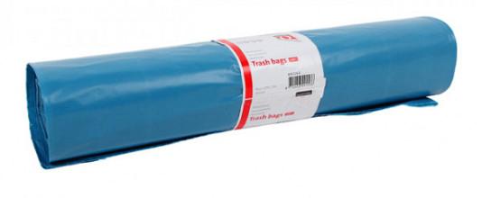 Afvalzak Quantore LDPE T60 120L blauw extra stevig 20 stuks