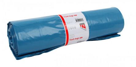 Afvalzak Quantore LDPE T50 240L blauw extra stevig 10 stuks
