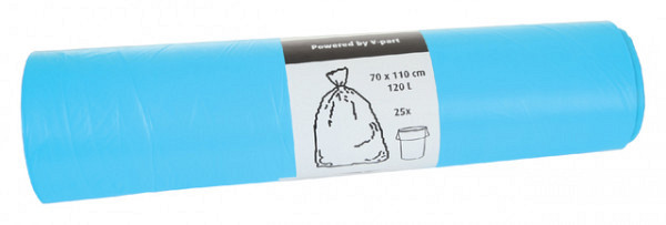 Afvalzak Cleaninq 70x110cm 16micron 120liter blauw 25stuks