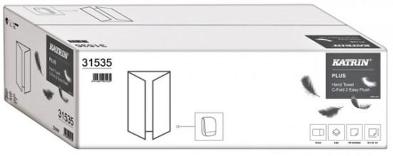 Handdoek Katrin 31535 Easy Flush C-Fold 2laags 24x33cm 18x125st