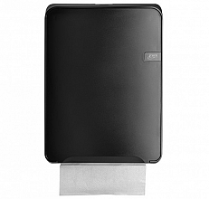 Dispenser Euro Quartz vouwhanddoeken C-vouw zwart