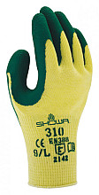 Handschoen Showa 310 grip latex L groen/geel