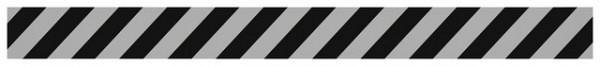 Vloersticker OPUS 2 rechte lijn lichtgrijs/zwart