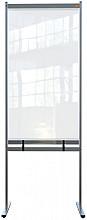 Scheidingswand Nobo vrijstaand doorzichtig PVC 780x2060mm