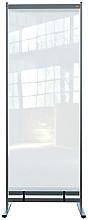 Vloerscheidingspaneel Nobo vrijstaand doorzichtig PVC 780x2060mm