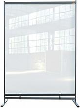 Vloerscheidingspaneel Nobo vrijstaand doorzichtig PVC 1480x2060mm