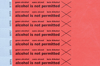 Polsbandje CombiCraft alcohol not permitted rood
