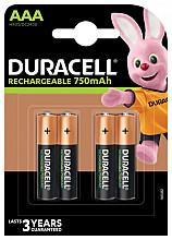 Batterij oplaadbaar Duracell 4xAAA 750mAh Plus
