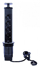 Stekkerblok Pop-Up 4-voudig met schakelaar 2meter