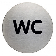 Infobord pictogram Durable 4907 wc rond 83Mm