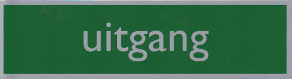 Infobord pictogram uitgang 165x44mm