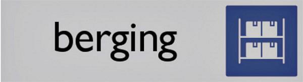 Infobord pictogram berging 165x44mm