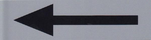 Infobord pictogram pijl 165x44mm