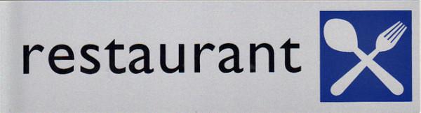 Infobord pictogram restaurant 165x44mm