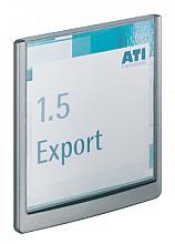 Deurbordje Durable Click sign 149x148.5mm grafiet