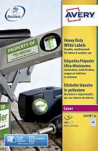 Etiket Avery L4778-20 45.7x21.2mm polyester wit 960stuks