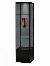 Vitrinekast SDB mpc-o-led zwart 500x500x2000mm