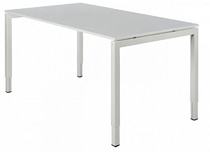 Bureau NPO Fyra instelbaar 120x80cm wit frame wit blad