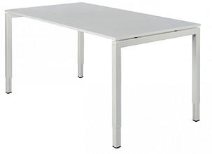 Bureau NPO Fyra instelbaar 200x100cm wit frame wit blad