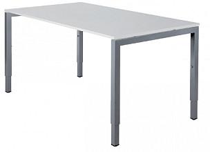 Bureau NPO Fyra instelbaar 160x80cm alu frame wit blad