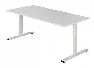Bureau NPO Pro-Fit instelbaar 200x100cm wit frame wit blad