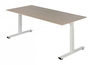 Bureau NPO Pro-Fit instelbaar 160x80cm wit frame eiken blad