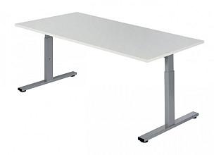 Bureau NPO Pro-Fit instelbaar 160x80cm alu frame wit blad