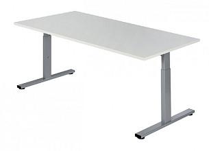 Bureau NPO Pro-Fit instelbaar 200x100cm alu frame wit blad