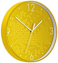 Wandklok Leitz WOW Ø29cm geel