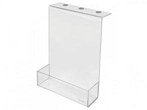 Opbergbox Sigel akoestiek acryl transparant 220x300x60mm