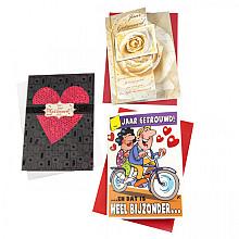 Wenskaart Paperclip navulset getrouwd set à 6 kaarten
