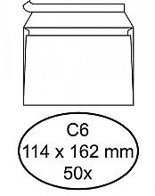 Envelop Quantore bank C6 114x162mm zelfklevend wit 50stuks