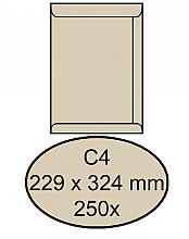 Envelop Quantore akte C4 229x324mm cremekraft 250stuks